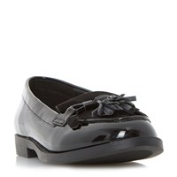 Head Over Heels Gwenie Bow Fringe Loafers Black