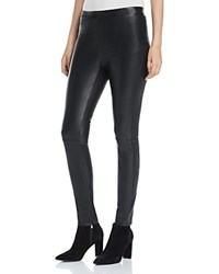 Cupcakes And Cashmere Liliana Faux Leather Leggings Black