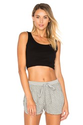 Indah Cookie Cropped Tank Black