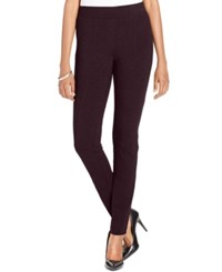 Styleandco. Style Co. Petite Stretch Ponte Leggings Only At Macy's Dried Plum
