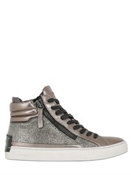 Crime 40Mm Metallic Leather High Top Sneakers