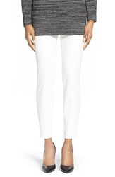 Petite Women's Nydj 'Millie' Pull On Stretch Ankle Jeans Winter White