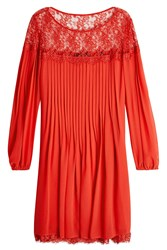 The Kooples Chiffon And Lace Dress