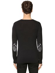 Burberry Cashmere Blend Sweater W Check Patches