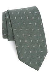 Strong Suit Men's Heather Floral Silk And Wool Tie Hunter