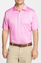 Men's Peter Millar Egyptian Cotton Lisle Polo Retro Pink