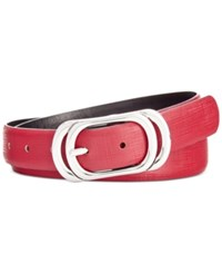 Styleandco. Style And Co. Oval Reversible Belt Only At Macy's Wine Black