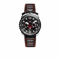 Bomberg Watches Bolt Chronograph Steel And Black 050 4.3 Silver