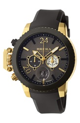 Brera 'Militare Ii' Round Chronograph Watch 48Mm Black Gold