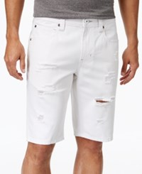 Inc International Concepts Men's Ripped White Wash Jean Shorts