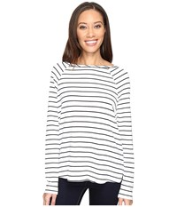 Tart Rica Top Open Stripes Women's Clothing White