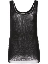 Fuzzi Slim Fit Tank Top Black
