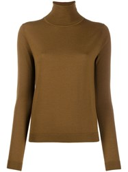 Aspesi Turtleneck Fine Knit Jumper Brown