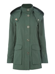 Armani Exchange Caban Coat In Moss Moss