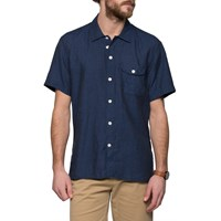 Oliver Spencer Navy Short Sleeve Calvert Shirt Blue