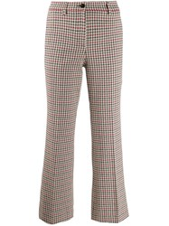 Incotex Cropped Flared Trousers White