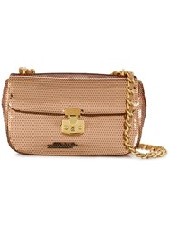 Moschino Cheap And Chic Sequin Crossbody Bag Gold