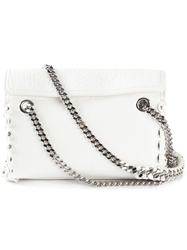 Roberto Cavalli Eyelet Cross Body Bag White