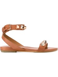 Vic Matie Studded Flat Sandals Nude And Neutrals