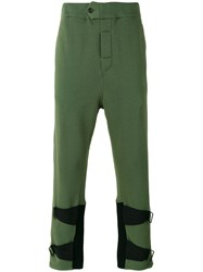 Ann Demeulemeester Ankle Strap Track Pants Green