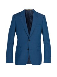 Alexander Mcqueen Single Breasted Wool Blend Blazer Light Blue