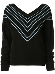 Georgia Alice Noel Chevron Jumper Black