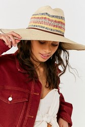 Peter Grimm Kelli Striped Straw Resort Hat Tan
