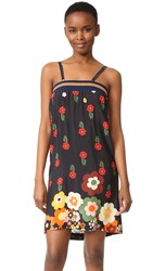 Warm Smile Slip Dress Black Floral