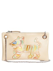 The Row Happy Hour 7 Hand Brushed Tiger Clutch Multi