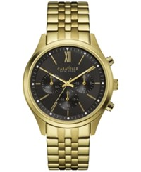 Caravelle New York By Bulova Men's Chronograph Gold Tone Stainless Steel Bracelet Watch 41Mm 44A108
