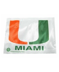 Rico Industries Miami Hurricanes Car Flag White