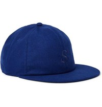 Saturdays Surf Nyc Rich Embroidered Wool Blend Baseball Cap Blue