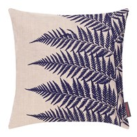 Clarissa Hulse Lady Fern Cushion 45X45cm Natural Linen Ink