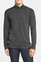 Jeremiah 'William' Button Mock Neck Pullover Black