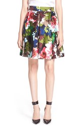 Women's Trina Turk 'Sheri' Floral Print Pleated Skirt