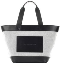 Alexander Wang Leather And Canvas Tote Bag Black