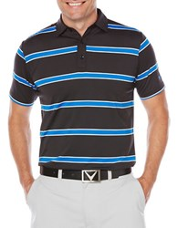 Callaway Big And Tall Rugby Striped Polo Caviar
