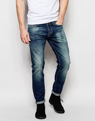 Gas Jeans Gas Morris Straight Fit Jean Stone Wash Blue
