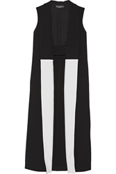 Narciso Rodriguez Crepe Trimmed Wool Vest