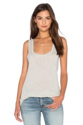 Velvet By Graham And Spencer Mossy Gauzy Whisper Scoop Neck Tank Gray