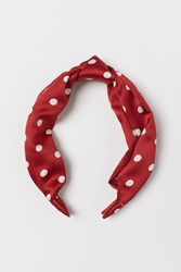 Handm H M Hairband With Knot Red