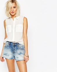 Vero Moda Sleeveless Shirt White