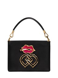 Dsquared Small Lips Charm Satin Shoulder Bag