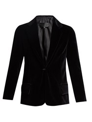 Nili Lotan Colbert Single Breasted Cotton Velvet Jacket Black