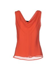 Clips Topwear T Shirts Women Red