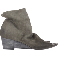 Marsell Notched Wedge Ankle Boots Gray