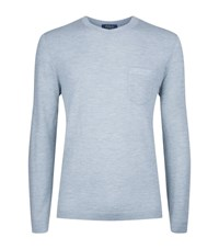 Polo Ralph Lauren Cashmere Long Sleeve T Shirt Male Light Blue