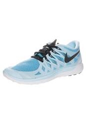 Nike Performance Free 5.0 Lightweight Running Shoes Ice Cube Blue Black Clearwater Light Blue