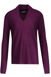 Magaschoni Silk And Cashmere Blend Sweater Grape