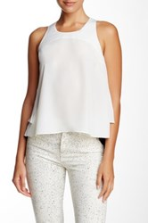 Madison Marcus Layered Back Hi Lo Tank White